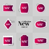 Collection Rhombus and square shape postage stamp Royalty Free Stock Photos
