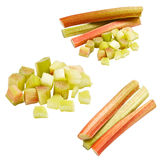 Collection of rhubarb Royalty Free Stock Images