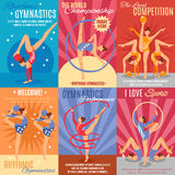 Collection Of Rhythmic Gymnastics Posters Stock Photography