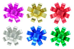 Collection of ribbon bow on white background2 Royalty Free Stock Photo