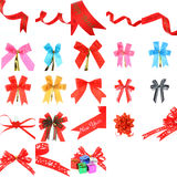 Collection of ribbon decoration Stock Photo
