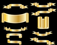 Collection of ribbons Royalty Free Stock Photography