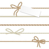 Collection of ribbons ahd bows in rope style vector illustration