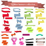 Collection of ribbons and banners. Of different colors for your design Royalty Free Stock Images