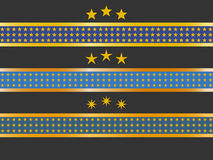 Collection of ribbons and stars Royalty Free Stock Photo
