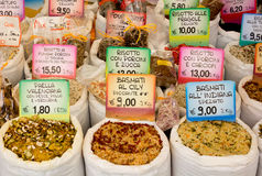Collection of Rices on a Stand Royalty Free Stock Photography
