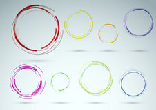 Collection of rings as web design elements Royalty Free Stock Photography