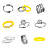 Collection Of Rings Royalty Free Stock Photography