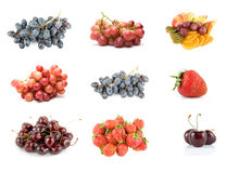 Collection of ripe fruit Royalty Free Stock Images