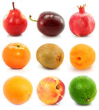 Collection of ripe fruit isolated Royalty Free Stock Photos