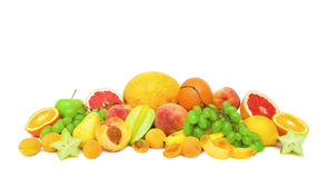 Collection of ripe fruits Stock Photo