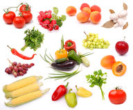 Collection of ripe fruits vegetables Stock Photography