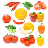 Collection of ripe vegetables images Royalty Free Stock Photography