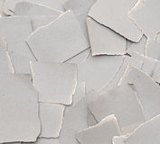 Collection ripped pieces of gray cardboard Stock Images