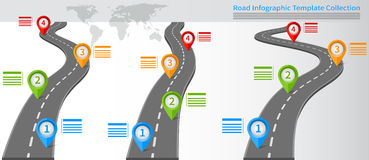 Collection of road diagrams Stock Photo
