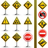 Collection Road Signs Stock Image