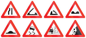 Collection of Road Signs Used in Belgium Royalty Free Stock Images