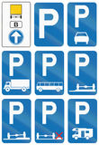 Collection of Road Signs Used in Belgium stock illustration
