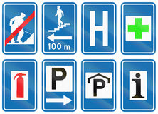 Collection of Road Signs Used in Belgium.  Stock Photography