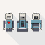 Collection of robot Royalty Free Stock Photography