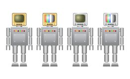 Collection of robots Stock Image