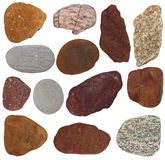 Collection Rocks isolated Royalty Free Stock Images