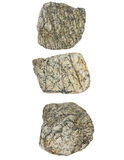 Collection Rocks isolated on white Royalty Free Stock Photos