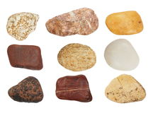 Collection rocks isolated on white Stock Photo
