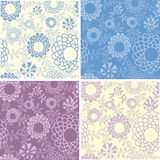 Collection of  romantic floral seamless patterns Stock Images