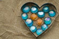 Collection romantique de coeurs Images stock