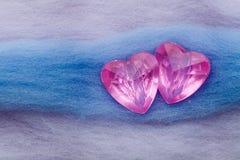 Collection romantique de coeurs Image stock