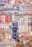 A view of Baixa de Lisbon from Castelo de São Jorge. A collection of rooftops in seen from Castelo de São Jorge Royalty Free Stock Photo