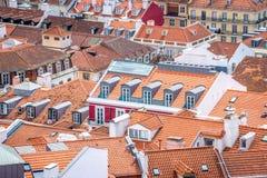 A view of Baixa de Lisbon from Castelo de São Jorge. A collection of rooftops in seen from Castelo de São Jorge Stock Images