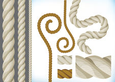 Collection of ropes Stock Images