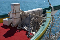 Collection of ropes and anchor stock images