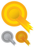 Collection rosette awards Royalty Free Stock Photography