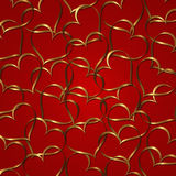 Collection rouge d'or de coeur illustration libre de droits