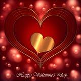 Collection rouge d'or de coeur illustration de vecteur