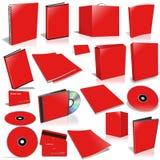Collection rouge de cache 3d blanc Image libre de droits