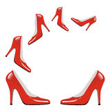 Collection rouge de talons hauts Image libre de droits