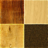 Collection of rough wood textures Royalty Free Stock Images