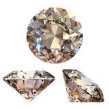 Collection of round cognac diamond Stock Photography