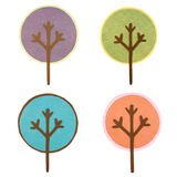 A collection of round cut out trees Royalty Free Stock Photos