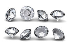 Collection of round diamond Stock Photography
