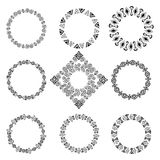 Collection of round elements for design in ethnic style Stock Photography