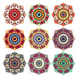 Collection of round ethnic patterns Stock Photo