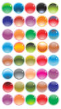 Collection of round gel filled Stock Images