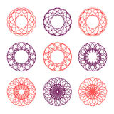 Collection of round ornaments Stock Photo