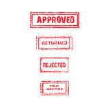 Collection of rubber stamps. vector. Royalty Free Stock Photos