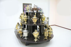 Collection of Russian samovars Royalty Free Stock Image